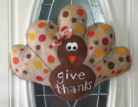Perfect Turkey Burlap Door Hanger More