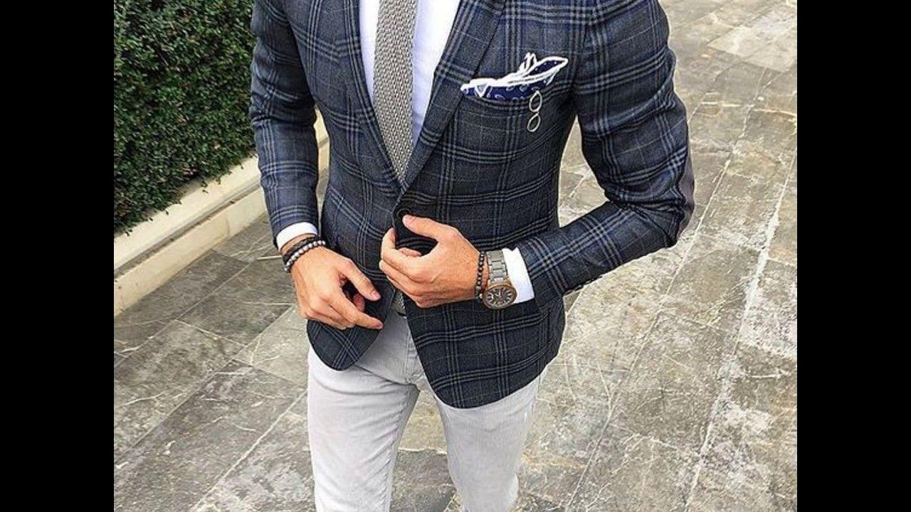 تنسيق الجاكيت الرسمي للرجال مع البنطال الجينز Suit Jacket Single Breasted Suit Jacket Fashion