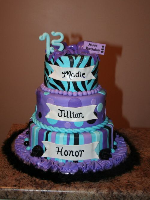 13th Birthday Cakes For Girls 13th Birthday Cakes For