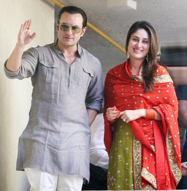 Saif And Kareena Kapoor Wedding Photos Kurta Designs Bollywood Stars Asian Outfits