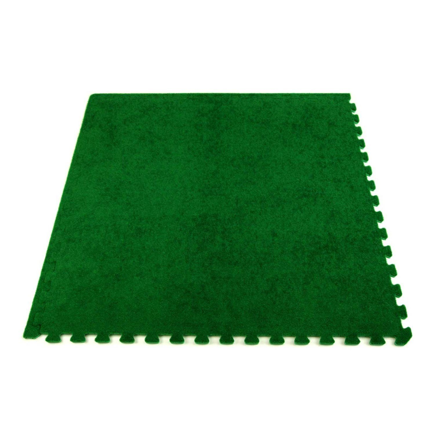 Incstores soft turf tiles ft x ft x in interlocking anti