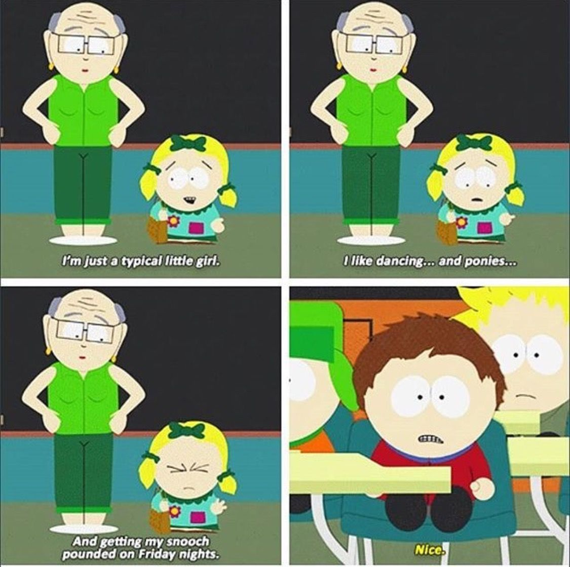 Clyde Wtf Lol That S Amazing Just A Simple Nice South Park Funny South Park Quotes South Park Memes
