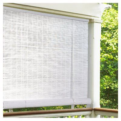 Roll Up Blinds White Pvc 48 X 72 In Model 0320146 True Value Patio Blinds Blinds For Windows Diy Blinds