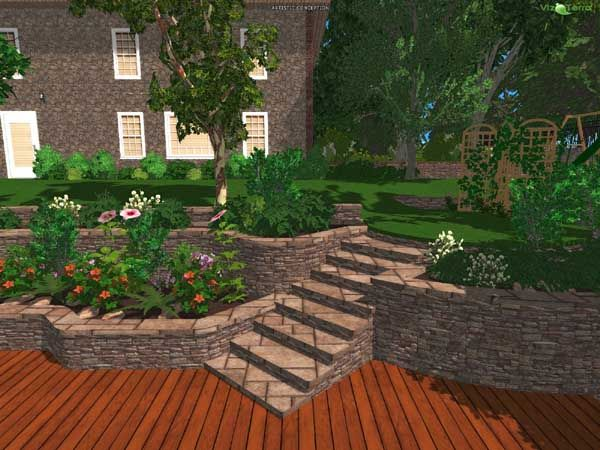 3D Landscape Design Photo | Gardens, Best Landscape And Landscapes
