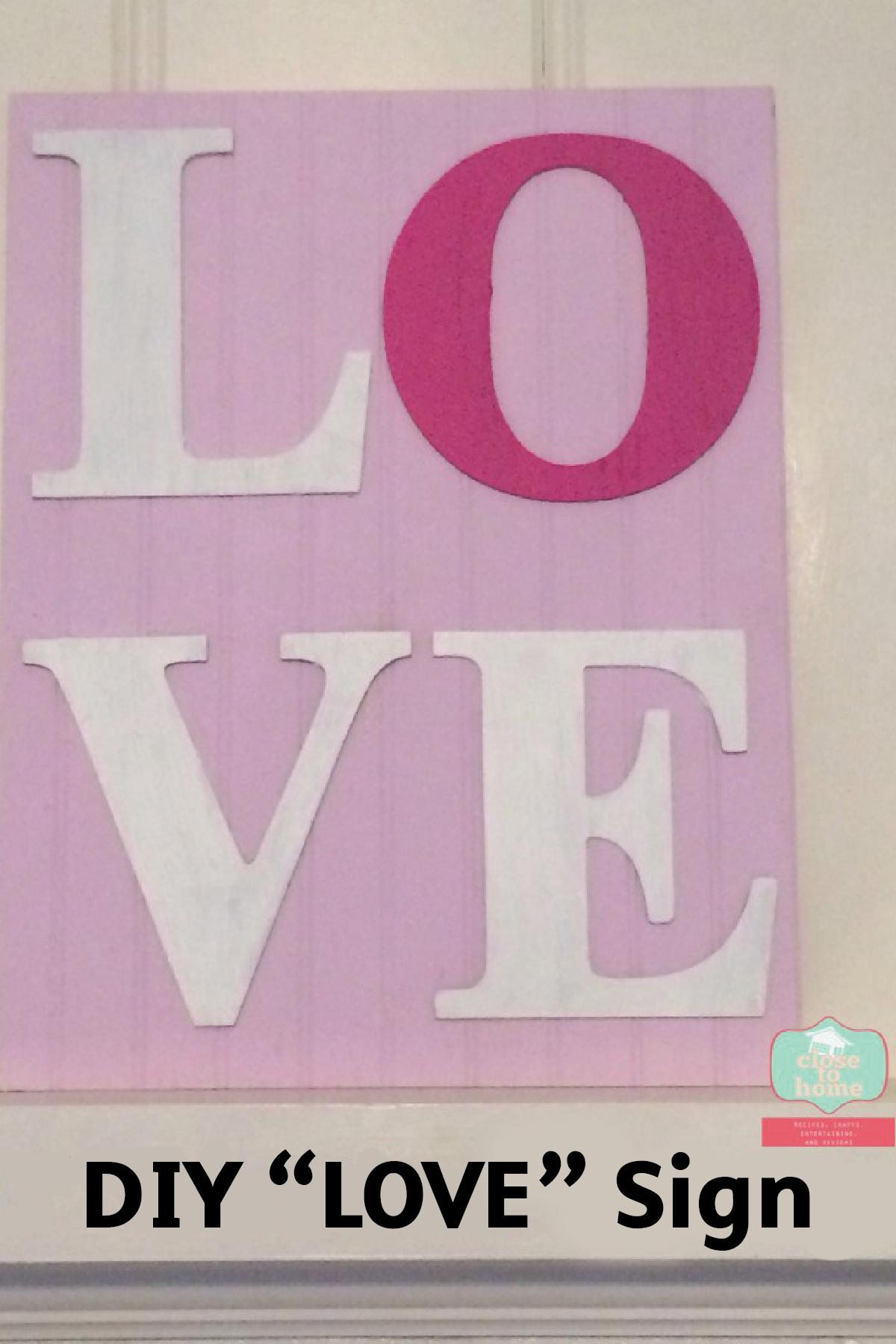 DIY Valentines Day Mantel Decor | Diy signs and DIY Valentine