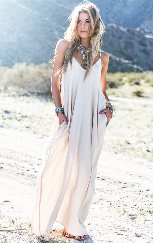 15a6ca82a44 Boho Maxi Beach dress