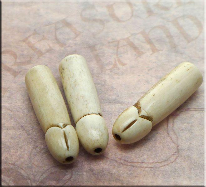 Bone phallus pendants carved bone penis bead pendant fertility bone phallus pendants carved bone penis bead pendant fertility talisman aloadofball Gallery