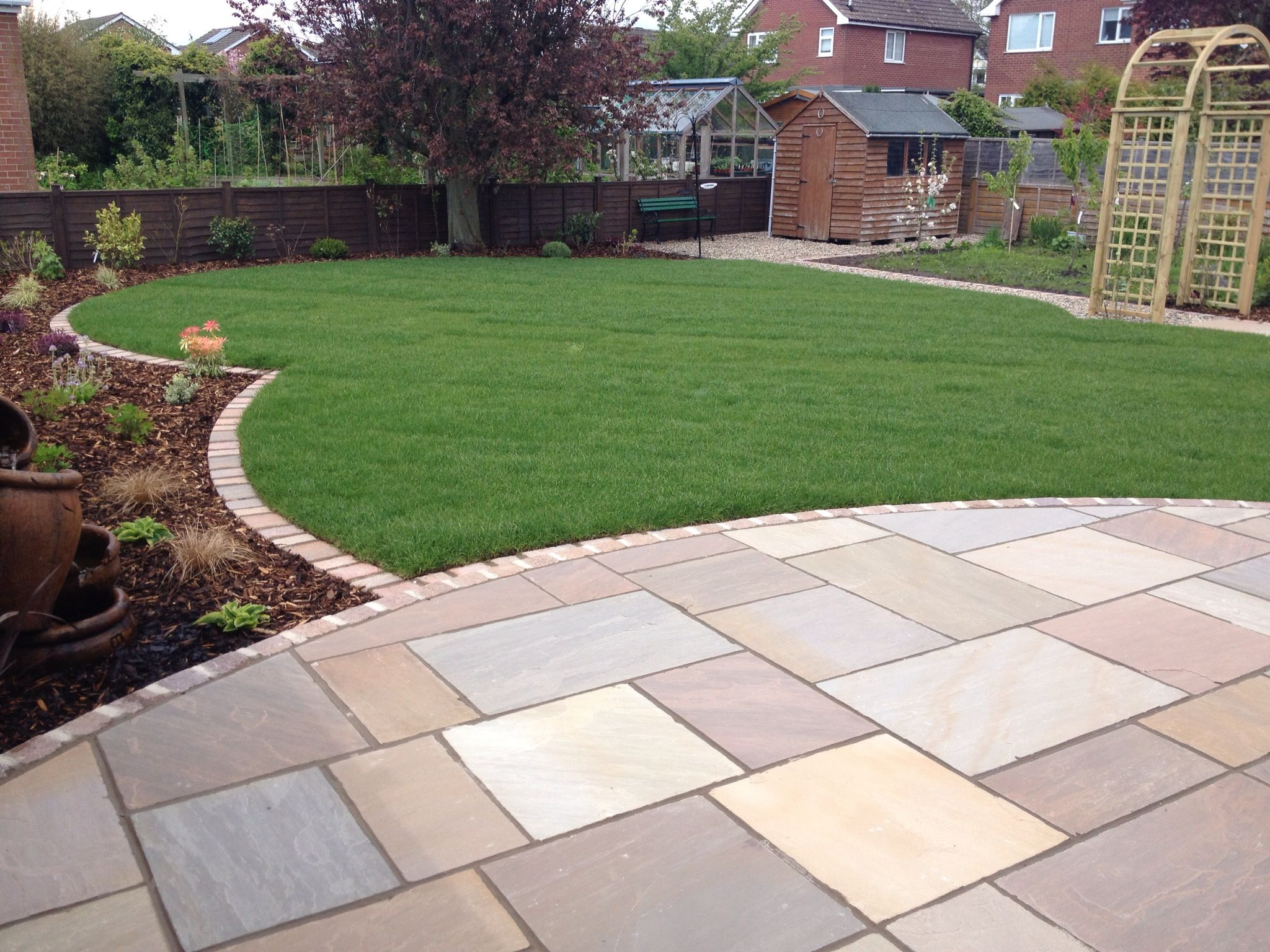 Complete garden created while our clients were away ... on Paving Ideas For Back Gardens id=88248