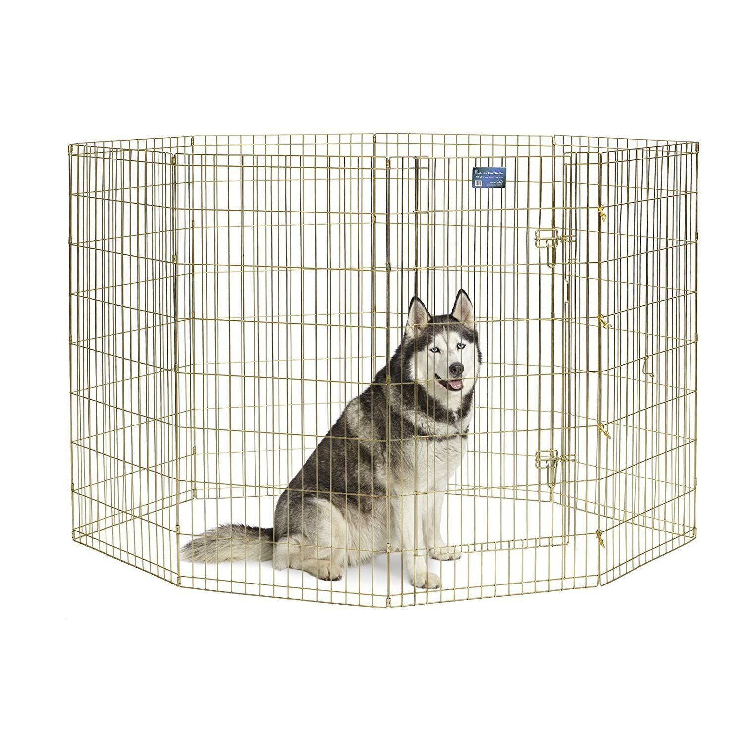 Exercise Pen With Door Dog Playpen Pet Playpens Dog Crate