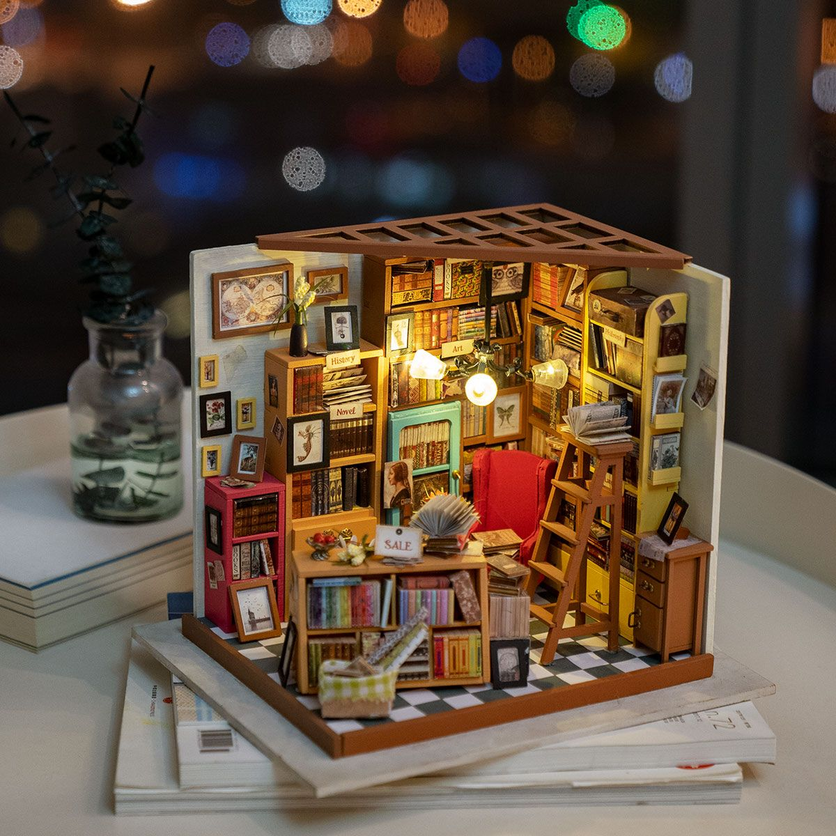 Rolife store - Sam's Study DG102, DIY Miniature Dollhouse