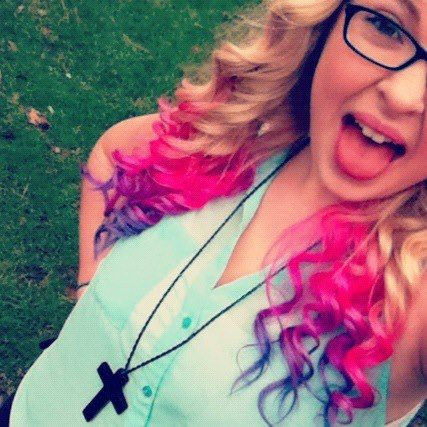 dip dyed hair. i love the pink to purple to blue color