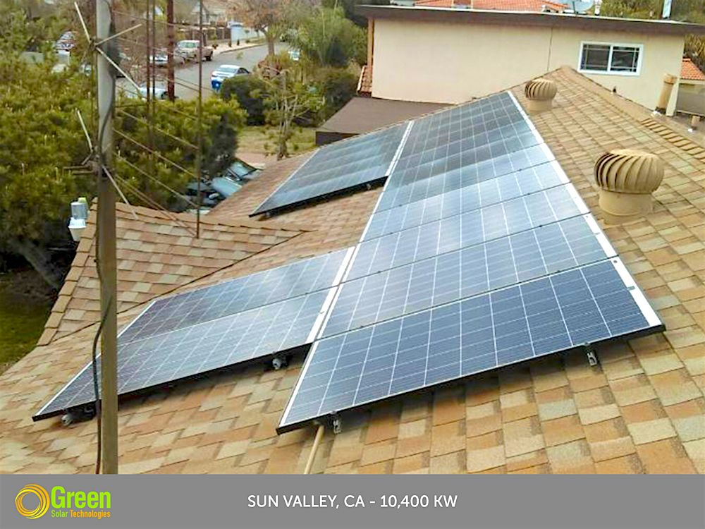 Green Solar Technologies Solarpanel Installation In Sun Valley Ca 10 400 Kw Solar Power Source Solar Free Solar