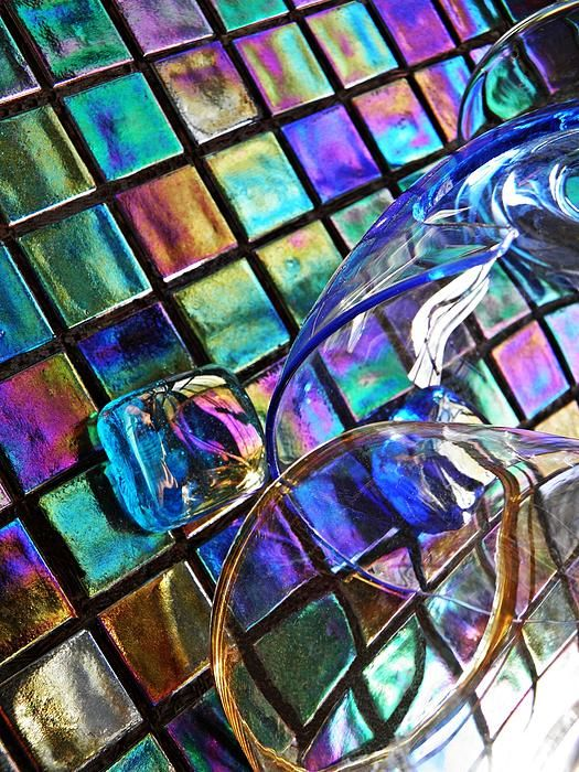 Glass Abstract 696    by S Loft