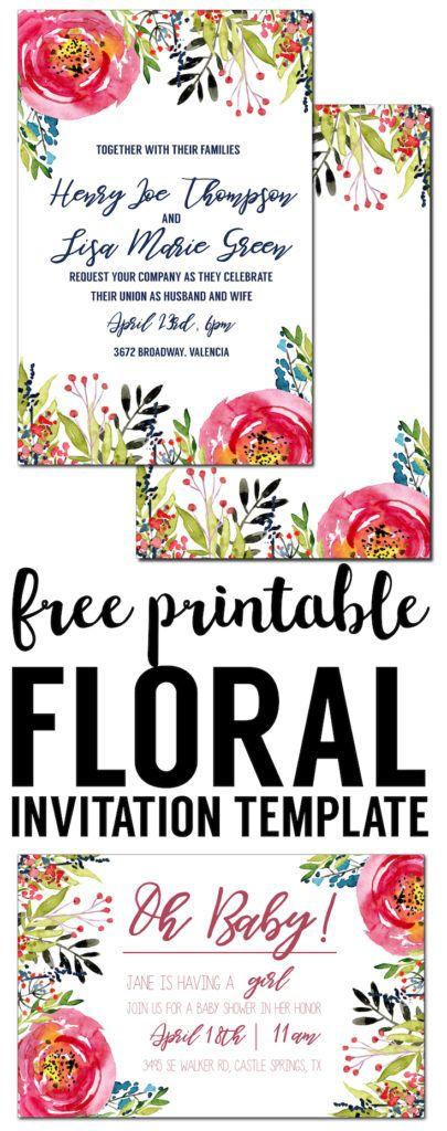 Floral Invitation Template {free printable Free invitation - fresh graduation invitation maker online free