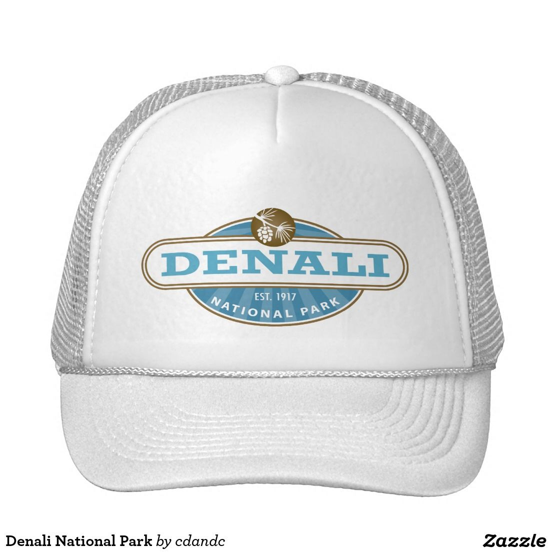 b58fd2729ee Denali National Park Trucker Hat - Denali National Park is located in  Interior Alaska and contains