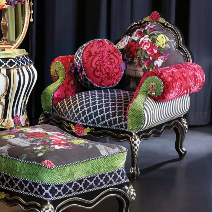 Mackenzie Childs Botanica Chair In Stock At Lg Gallery