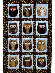 Quilt - Look Who's Sleeping In My Bed! Quilt Pattern - #429377 ... : owl quilts patterns - Adamdwight.com