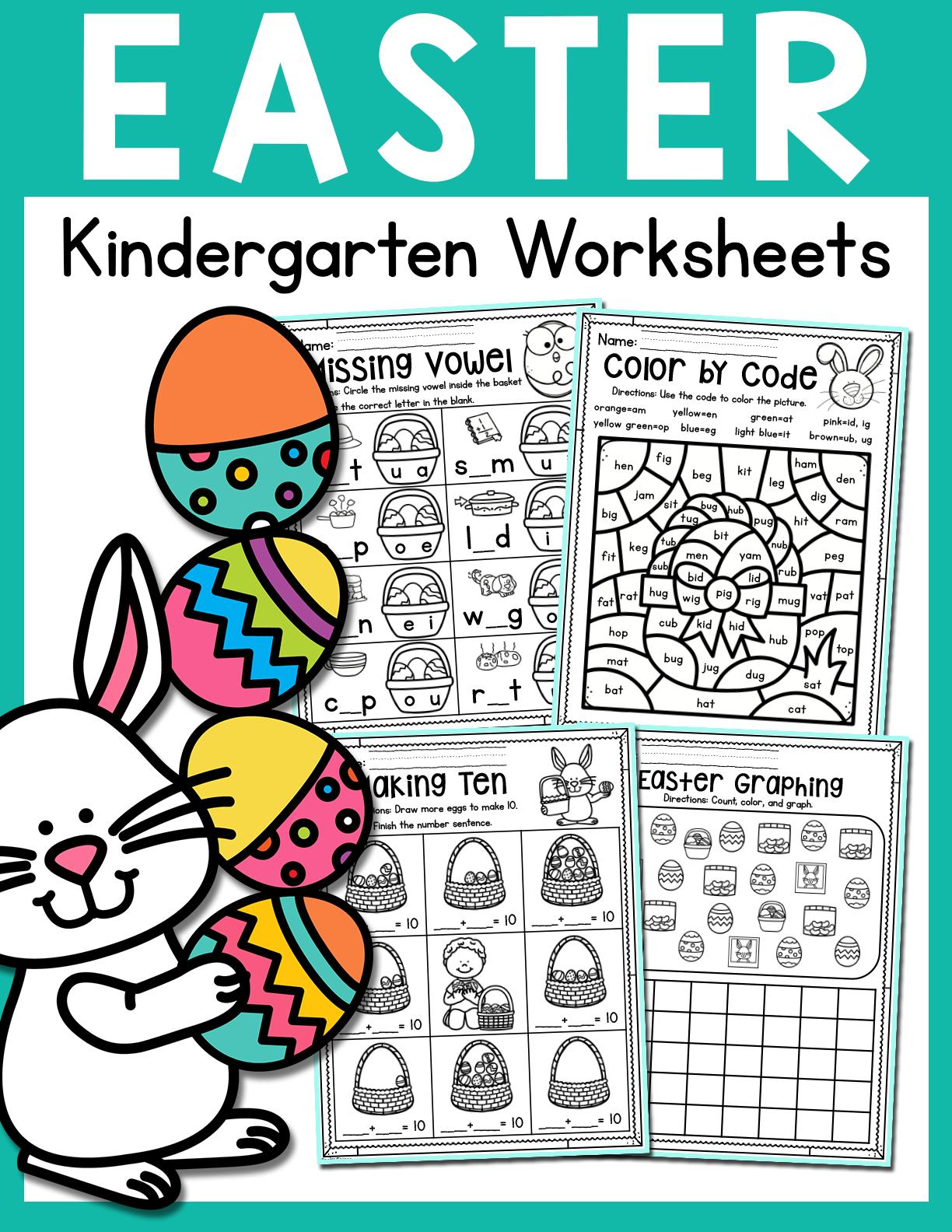 Easter Kindergarten Worksheets April Distance Learning