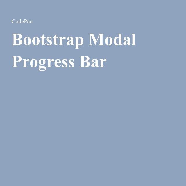 Bootstrap Modal Progress Bar | Tips and Tricks CSS