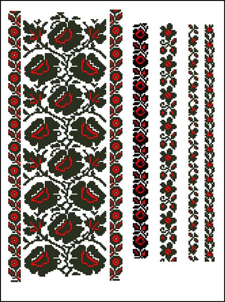 Схема вишивки хрестиком.  ff1d3f857a27a