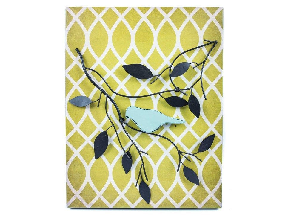 Metal Bird & Branch Wall Decor | metal tree wall art | Pinterest ...