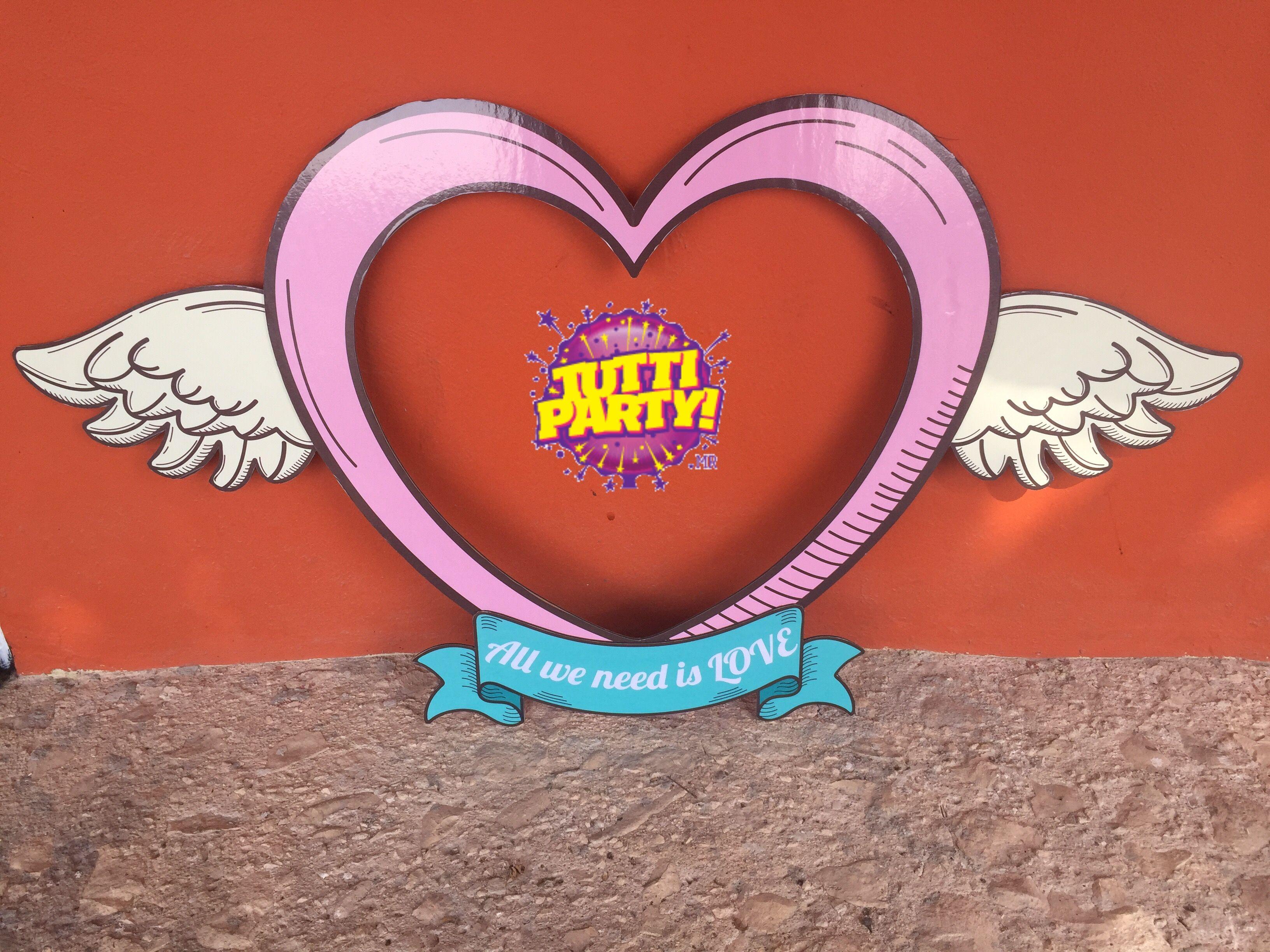 Mega marco Valentines day frase marco Da de san Valentn decoraci³n Da del amor y la amistad megamarcos Tutti Party playa del carmen 984