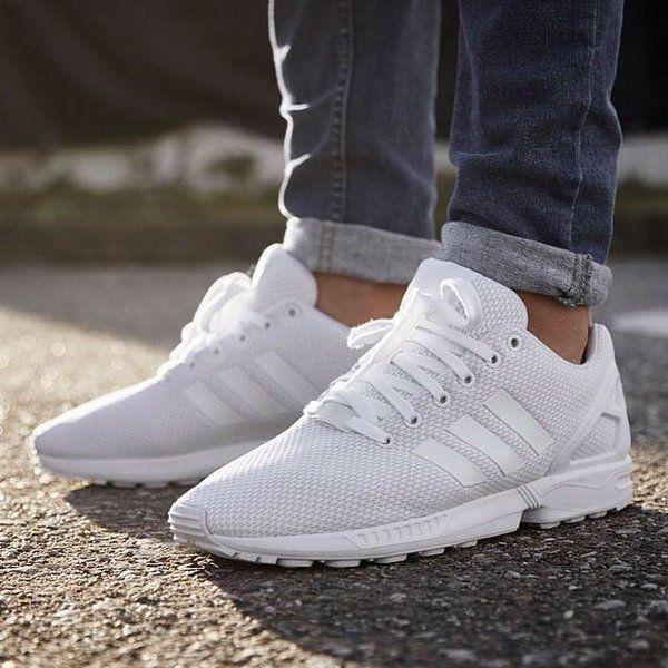 adidas zx flux zapatilla blancas