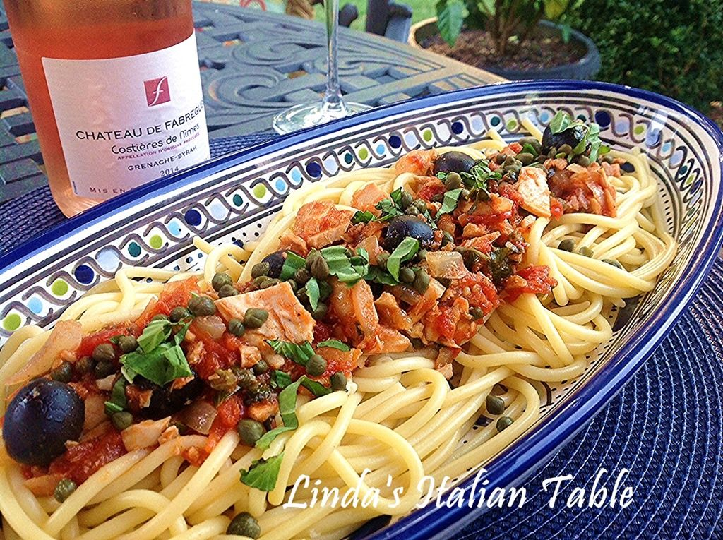 Sicilian Tuna Sauce finish with script