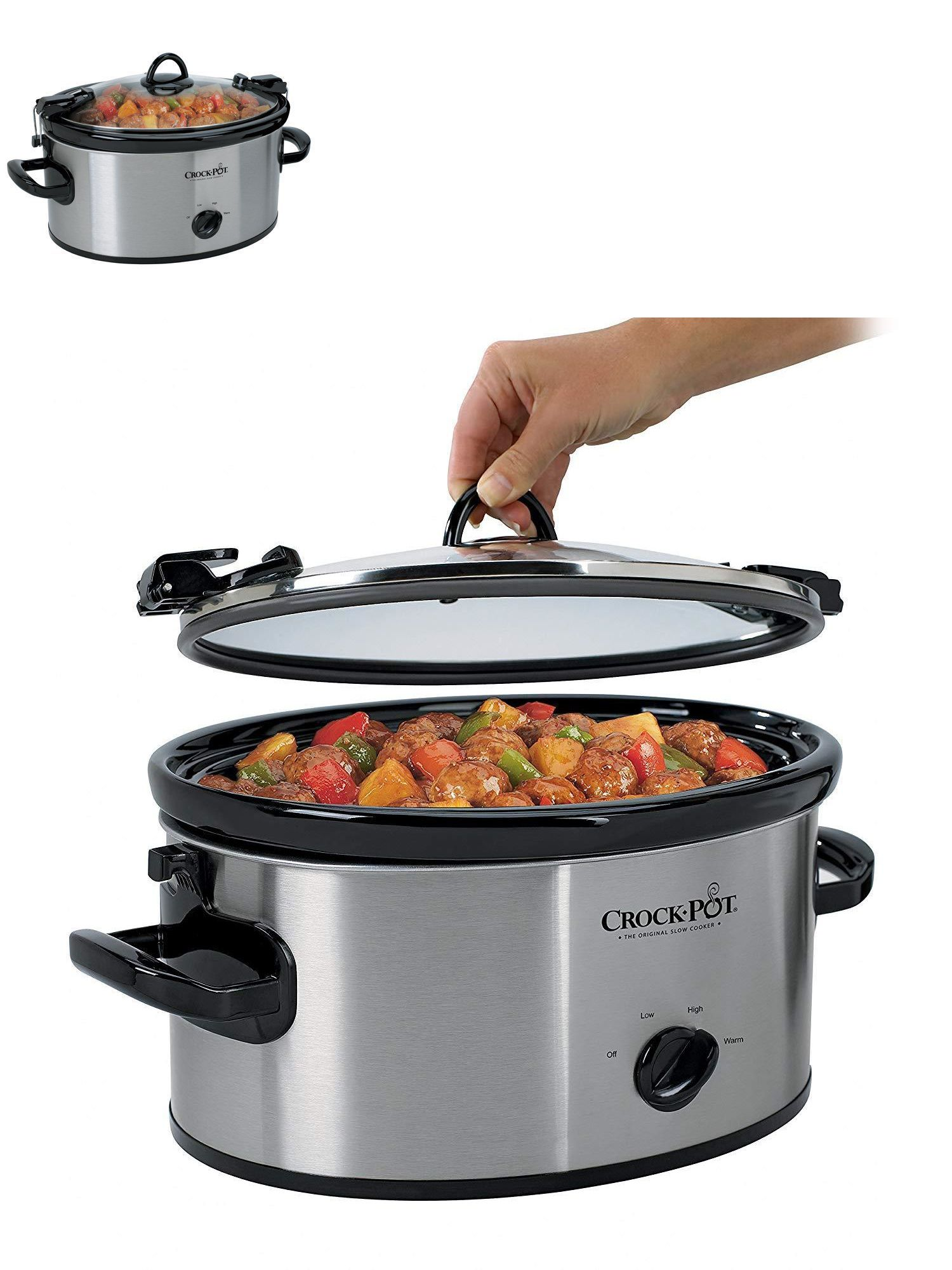 53089244734 Slow Cookers and Pressure Cookers 20672  Crock-Pot Sccpvl600s Cook N Carry 6 -Quart Oval Manual Portable Slow Cooker -  BUY IT NOW ONLY   23.49 on  eBay  ...