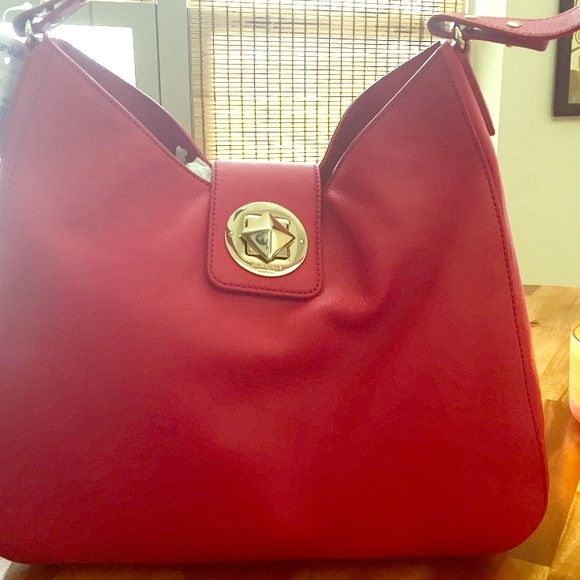 Kate Spade Chrystie Street Jamie Bag NWT gorgeous red Kate Spfe bag. 14k  gold plated hardware on cowhide leather kate spade Bags Shoulder Bags 72b9f73f0a0a3