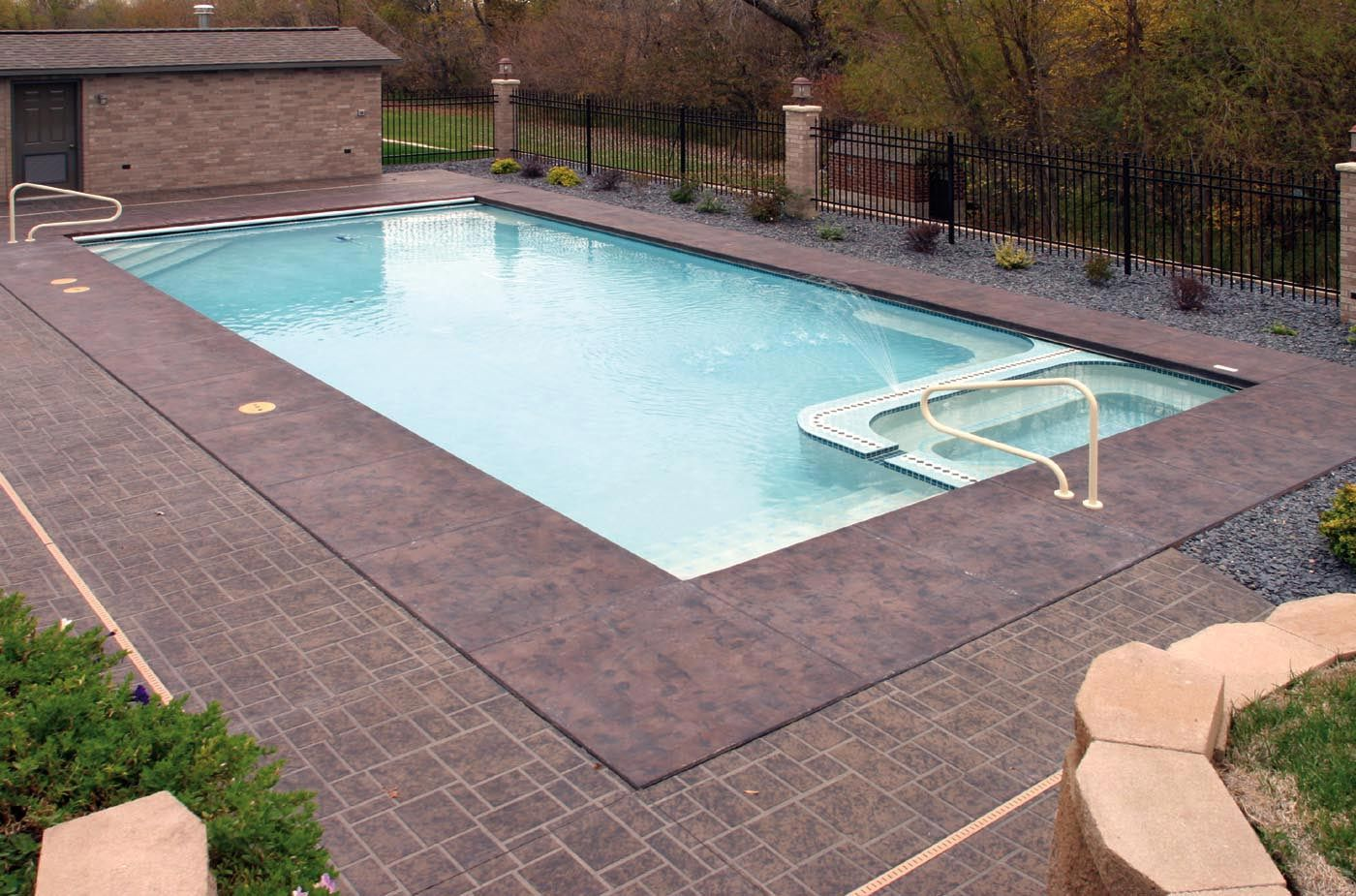 rectangle inground pools with hot tubs awesome ideas 13656 pools - Rectangle Pool With Spa