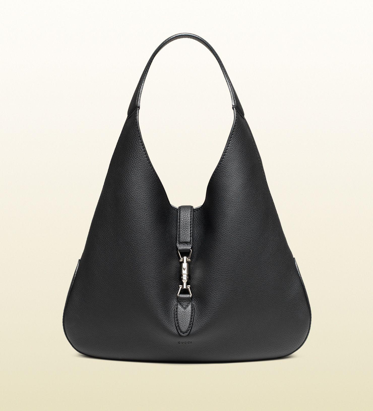 f4f92db0c1a6 Gucci Jackie Soft Leather Black Hobo   2