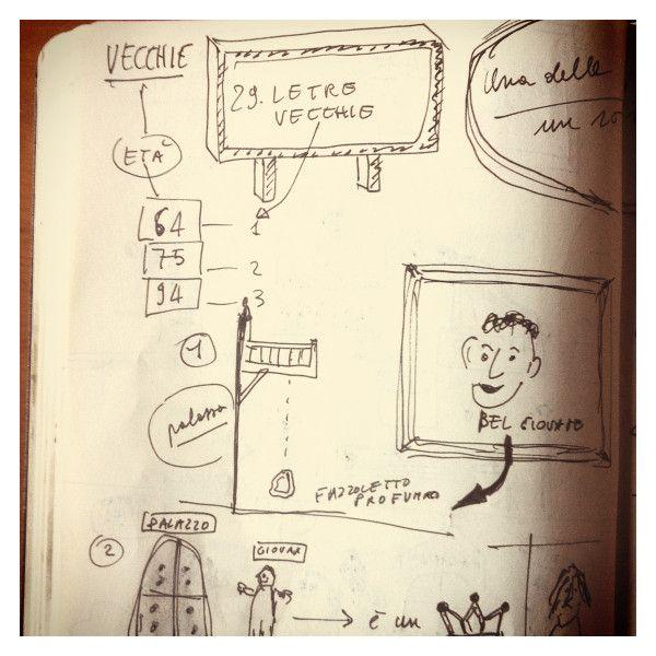 029_Le tre vecchie disegnata da Marco Belpoliti su @moleskine