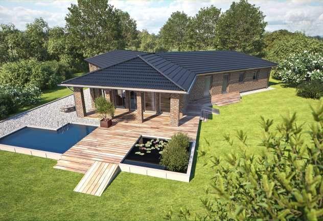 bungalow f r barrierefreies wohnen von hanlo haus top star 212 klinker ideen f r moderne. Black Bedroom Furniture Sets. Home Design Ideas