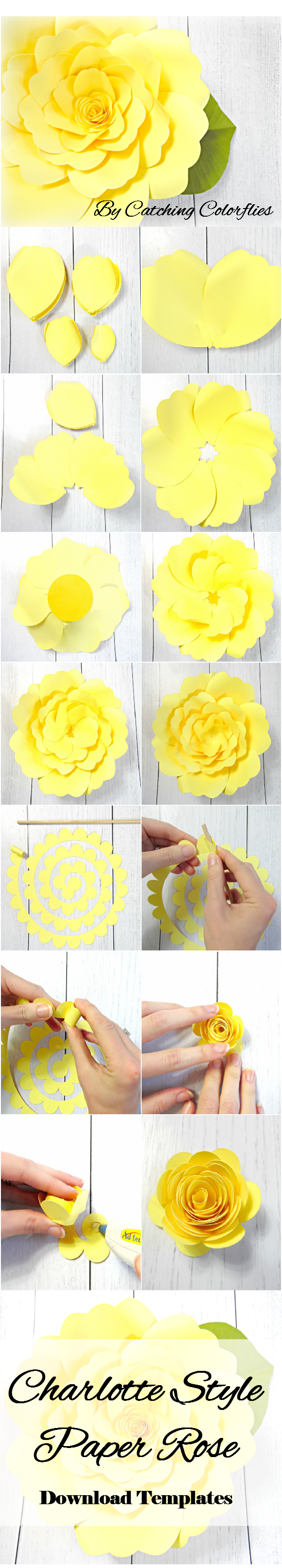 Giant Paper Flower Tutorial with templates, DIY paper flower templates, Paper flower SVG files, Large paper flower templates, Xl edition #largepaperflowers