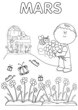 Coloriage Avril Printemps.Mars Avril Partager Spring Crafts Mars Et Weather Lessons