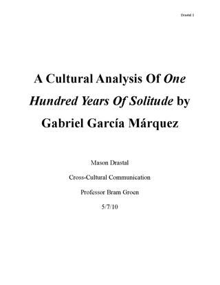 High School Dropouts Essay A Cultural Analysis Of One Hundred Years Of Solitude By Gabriel Garca  Mrquez  Fight Poverty Of The Mindread  Pinterest Computer Science Essay also Thesis Persuasive Essay A Cultural Analysis Of One Hundred Years Of Solitude By Gabriel  What Is A Thesis Statement For An Essay