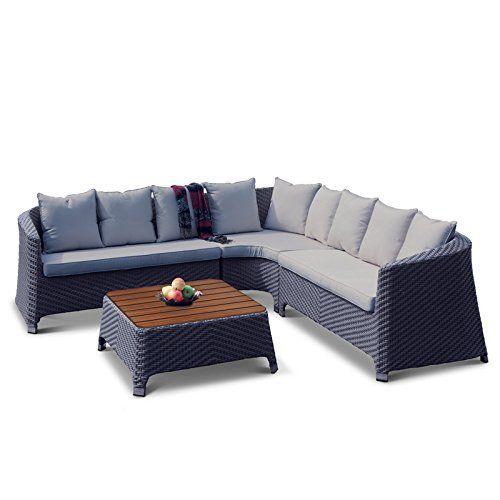 Oasis Rattan L Shaped Corner Sofa Set With Plaswood Coffee Table With Images Corner Sofa Set Sofa Set Corner Sofa