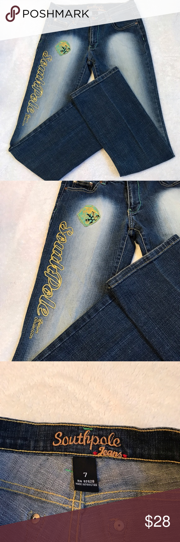 South Pole jeans Like new condition. Inseam 31 inches South Pole Jeans Boot Cut