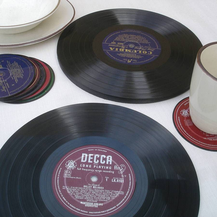 Vinyl Record Placemats Vinyl Records Old Vinyl Records Personalized Coasters