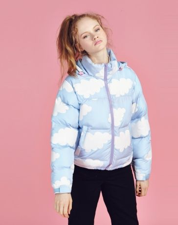 Cloud Puffer Jacket    A JACKET WITH SKY GRAPHICS  WHAT  NEED A MALE VER.  NOW b6ba4e94a3b
