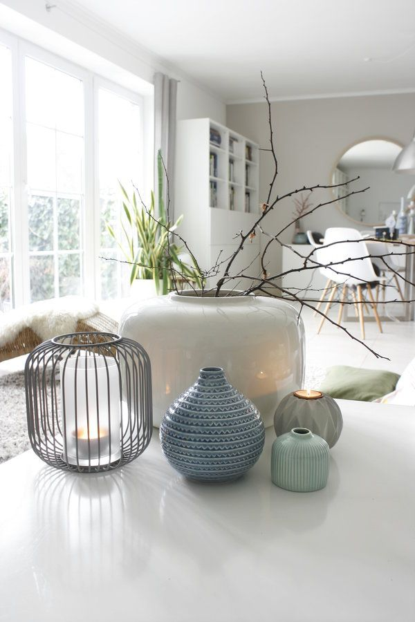 Neue blaue Vase Vase, Deko and House