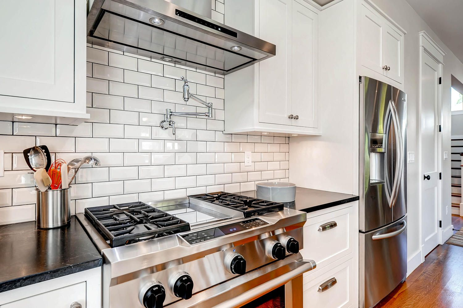 Add more convenience to cooking with a pot filler faucet above the ...