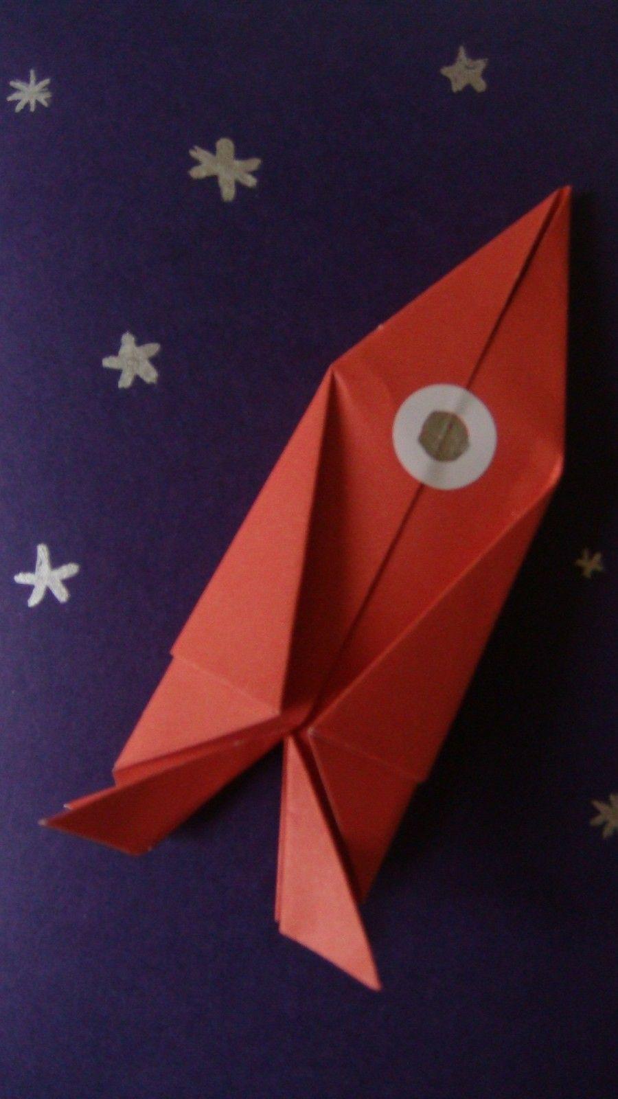 Origami fus e plan te bleue co pinterest origami d veloppement durable et astronomie - Tuto avion en papier ...