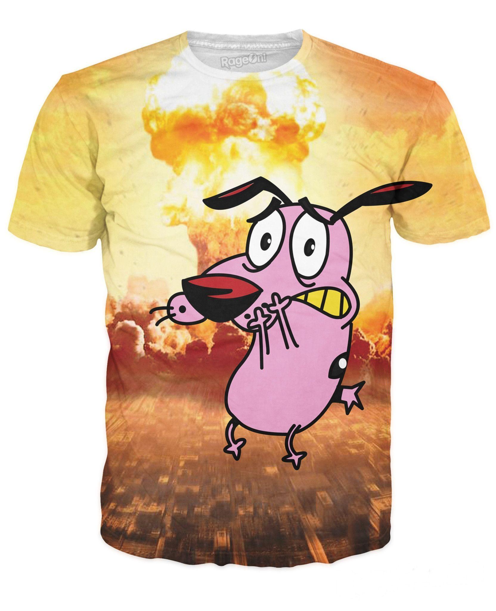 Courage The Cowardly Dog T Shirt Pokemon Shirts Dog Shirt Dog