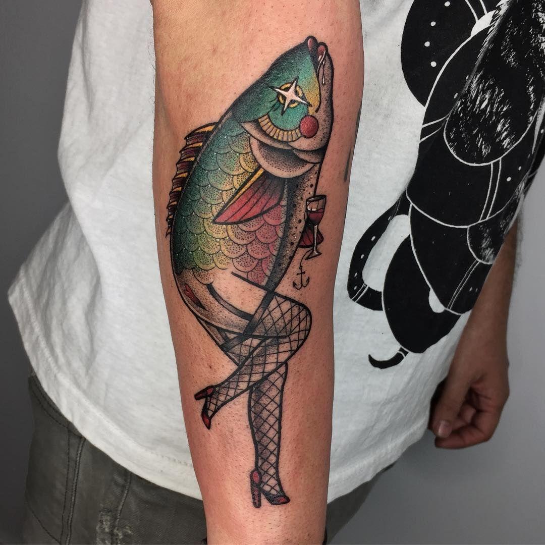 Fish Tattoo On Arm Tattoos Geometric Tattoo Fish Tattoos