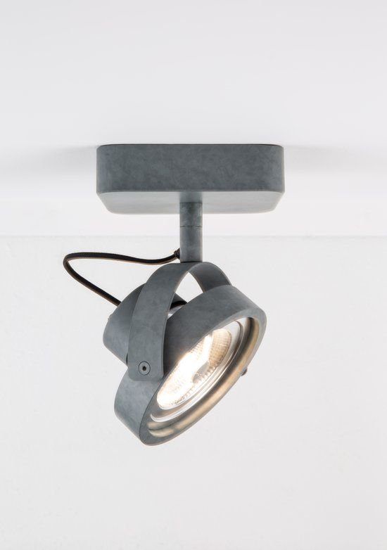 zuiver spot light dice 1 led galvanised spotjes grijs spot