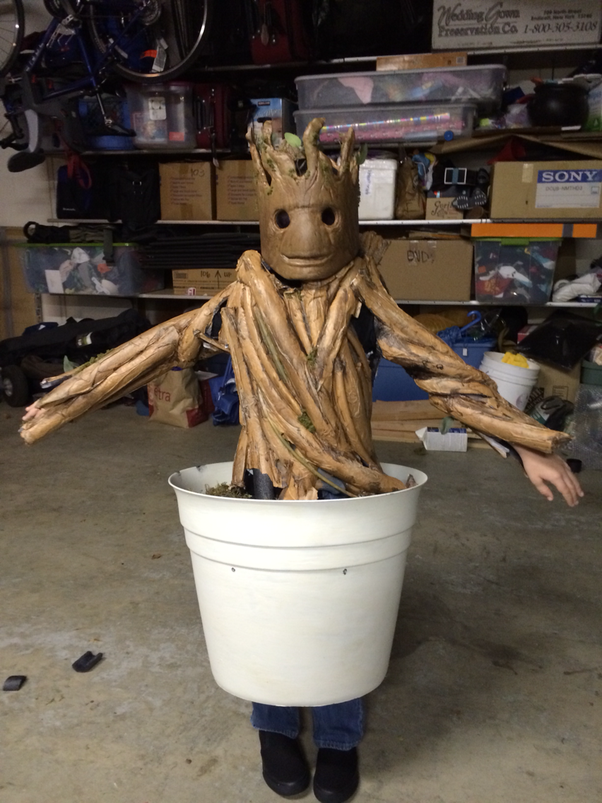 Lady Goats: Last Minute Costume Idea: DIY Groot Mask for 33 Cents ...