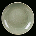 A longquan celadon porcelain plate, china, ming dynasty, 16th century