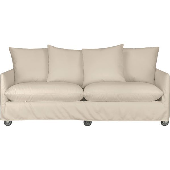 Catalina Apartment Sofa With Casters In Outdoor Seating Crate